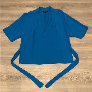Blue Topshop Blouse